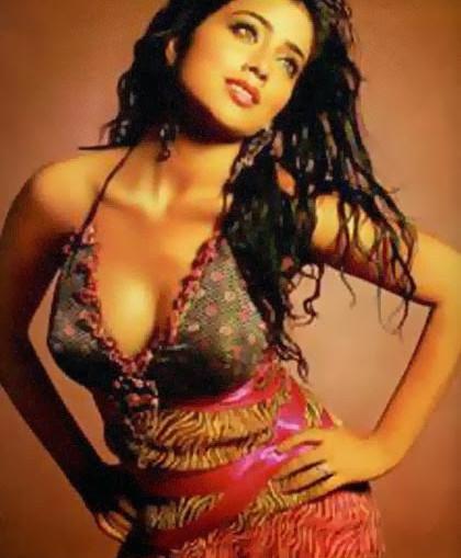 Actress Shriya Saran Hot Cleavage