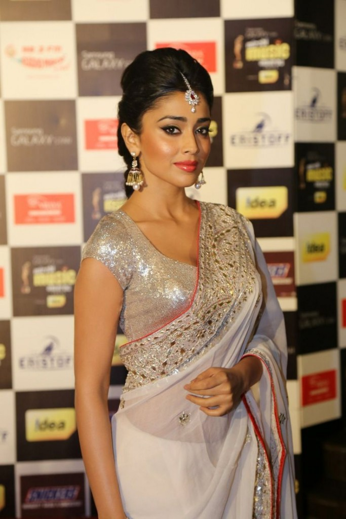 Shriya Saran White Churidar Hot Stills