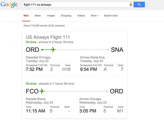 informations about flights