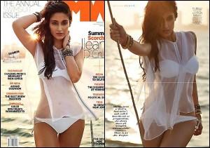 Ileana in bold white bikini for Man's World cover page
