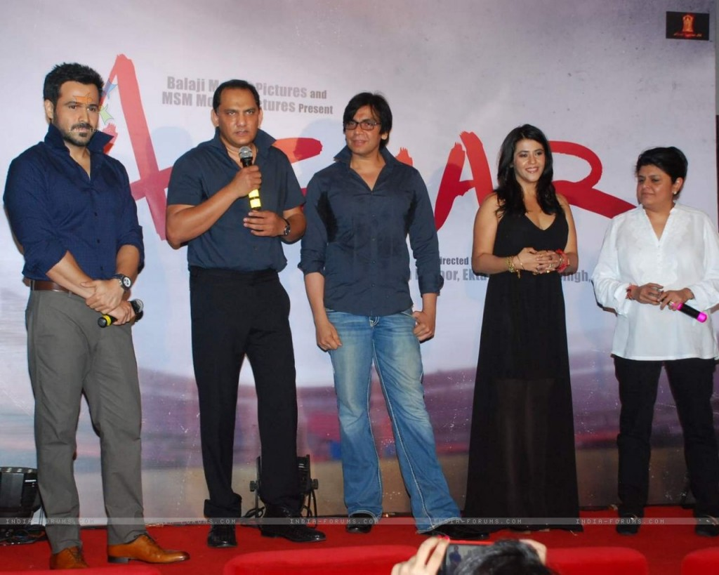 Emraan Hashmi, Mohammad Azharuddin and Ekta Kapoor at Azhar Film Launch