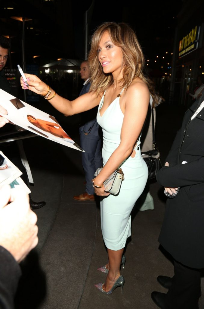 JENNIFER LOPEZ Arrives at 'The Perfect Match