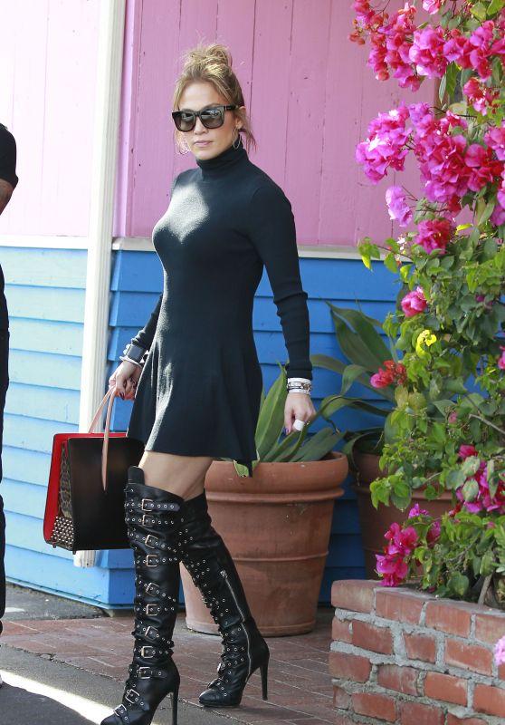 Jennifer Lopez in Mini Dress