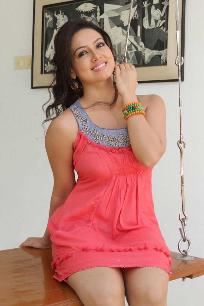 Sana Khan Looking Gorgeous in Short Dress