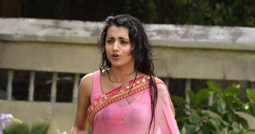 Trisha in wet saree