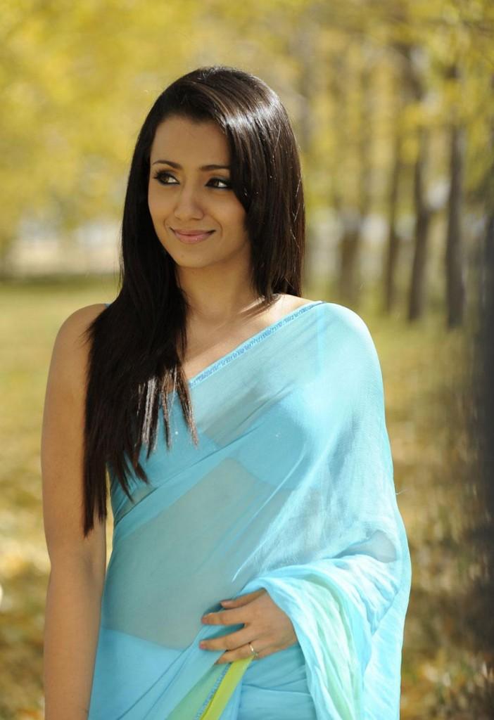 trisha hot saree photos stills bodyguard