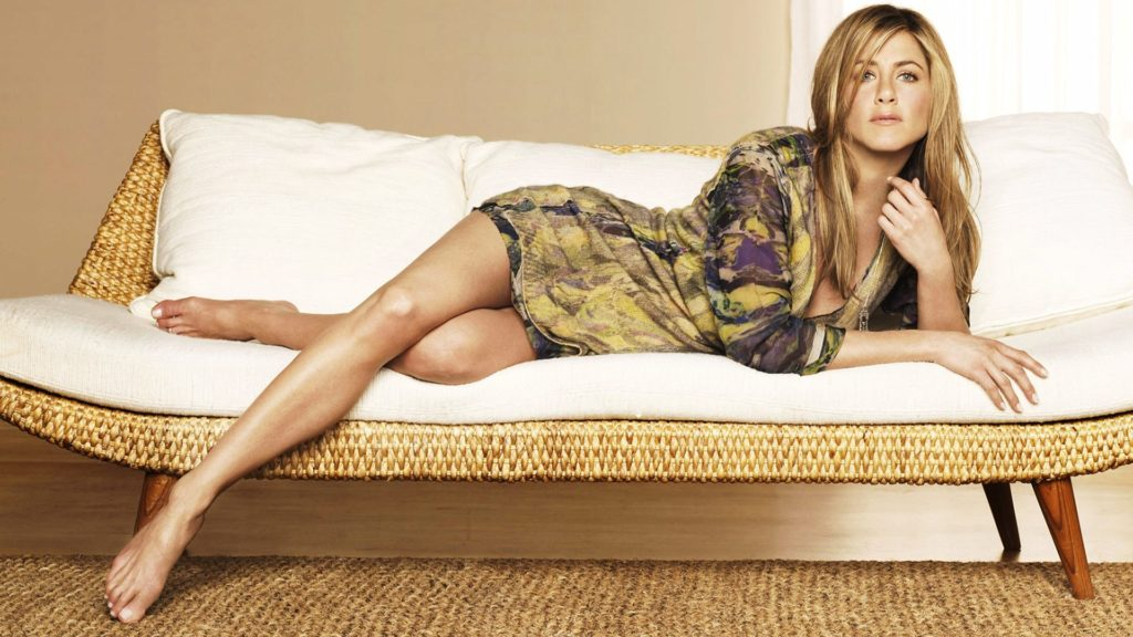 Jennifer Aniston on the couch