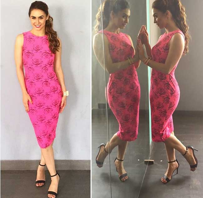 lauren-gottlieb-pink-dress