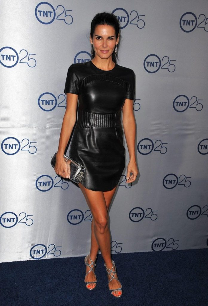 Angie Harmon hot black dress