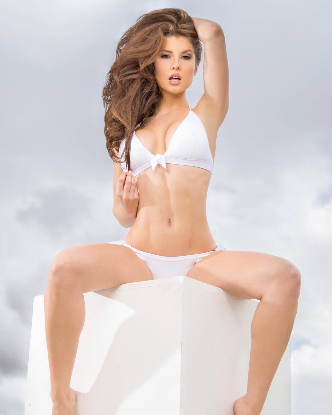Amanda Cerny White Bikini